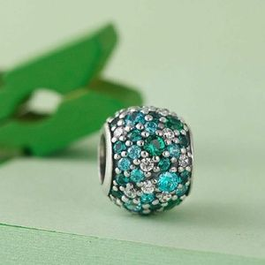 Authentic Pandora Charms beads Ocean Mosaic pave